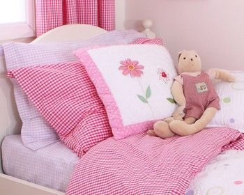 Ginghams Hot Pink Duvet Set (Junior)