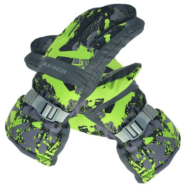 Men Women Ski Gloves Winter Waterproof Anti-Cold Warm Gloves Outdoor Sport Snow Sportswear Skiing Gloves