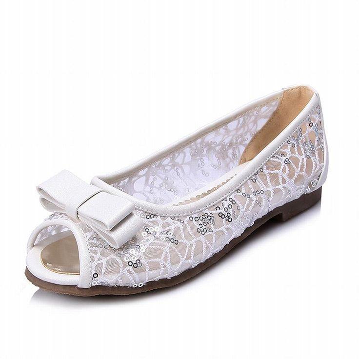Women's No Heel Solid Pull on Open Toe Flats-Sandals