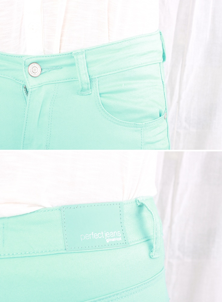 Turquoise skinny jeans <3