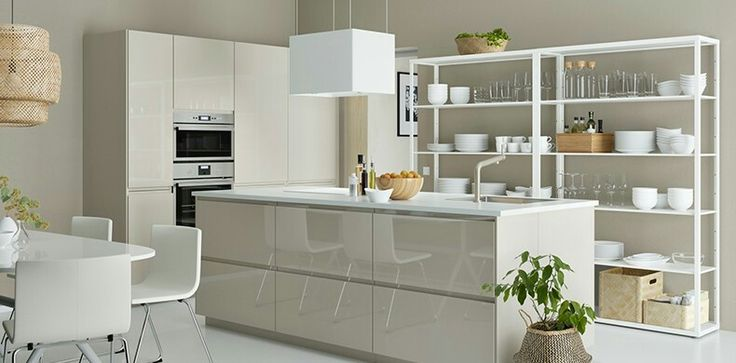 Best Metod Voxtorp High Gloss Beige Ikea Kitchen Ikea 400 x 300