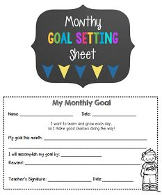 Use these student goal setting sheets to set weekly or monthly goals. Use them for behavior management or academic goals. Your students will feel successful tracking their progress daily!