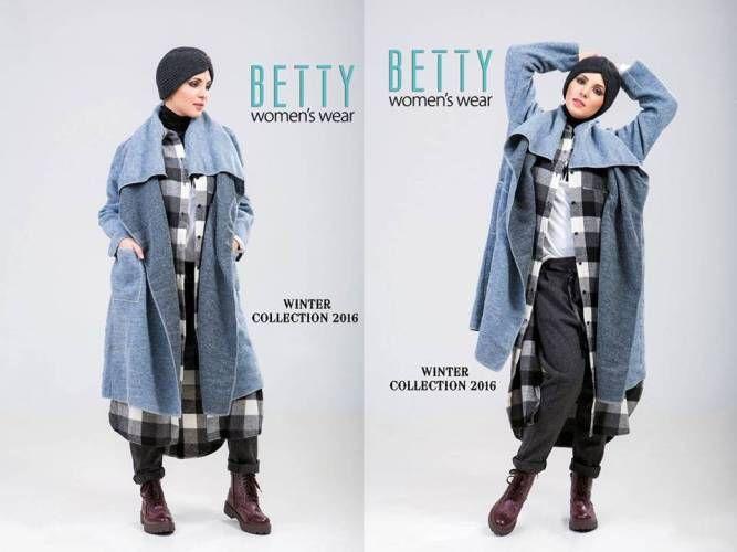 blue poncho hijab outfit