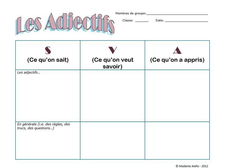47 best French Grammar images on Pinterest French grammar - kwl chart