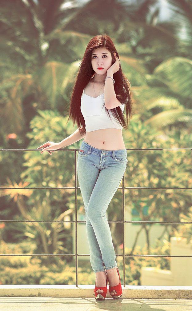 Ghim Trn Ngi P Da Trng Mt Xinh Dng Chun Hot Girl-5761