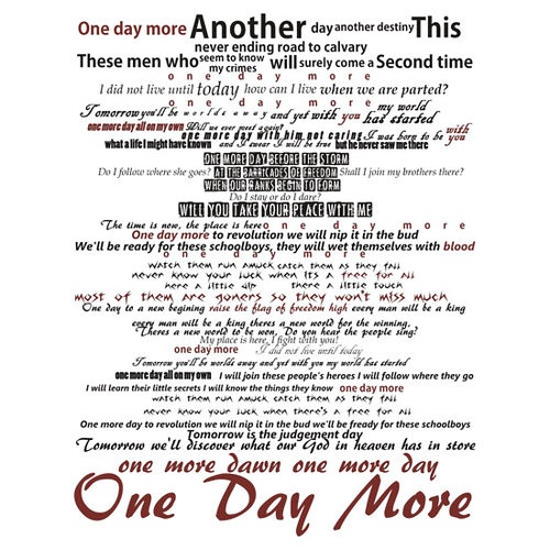 One Day More... Les Miserables
