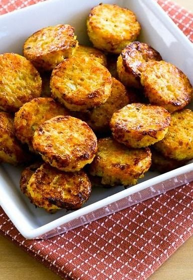 Cheesy Baked Cauiflower Tots