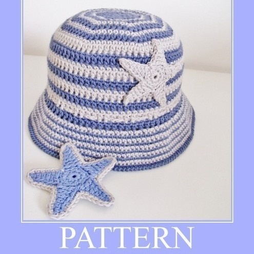 PATTERN Crochet Hat BUCKET STRIPES - Folksy