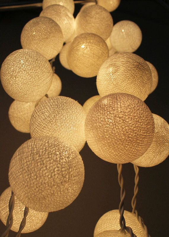 Hey, I found this really awesome Etsy listing at http://www.etsy.com/listing/122412674/white-cotton-ball-string-light-wedding