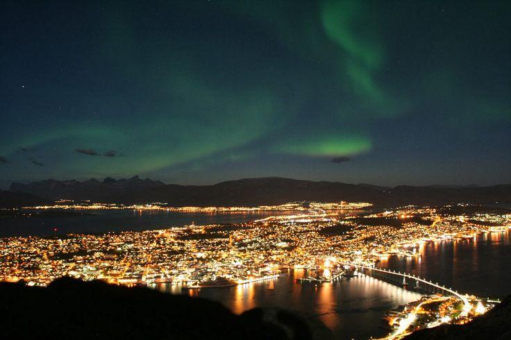 Imagenes De La Ciudad De Tromso en Noruega Aurora Boreal