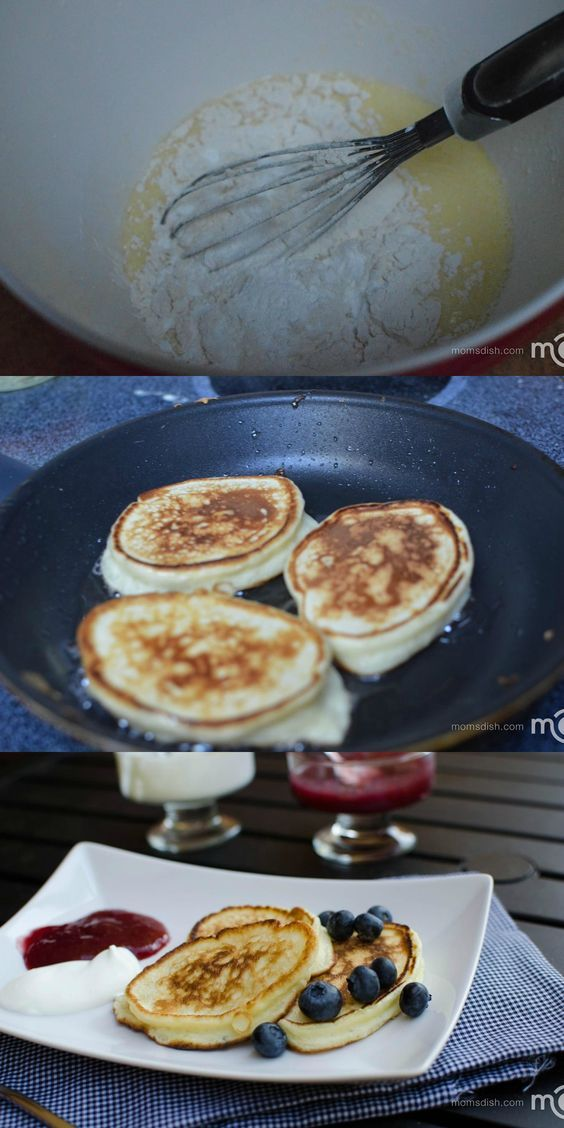 """Russian pancakes called """"Oladi"""" they are pillow soft, light and delicious."""