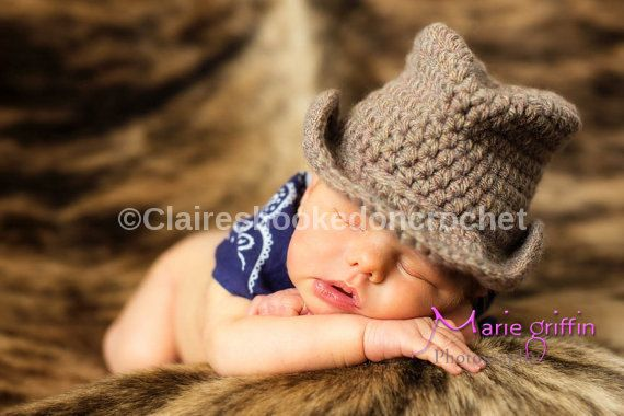 Baby Cowboy Hat brown Fedora hat fabulous by ClairesPhotoProps