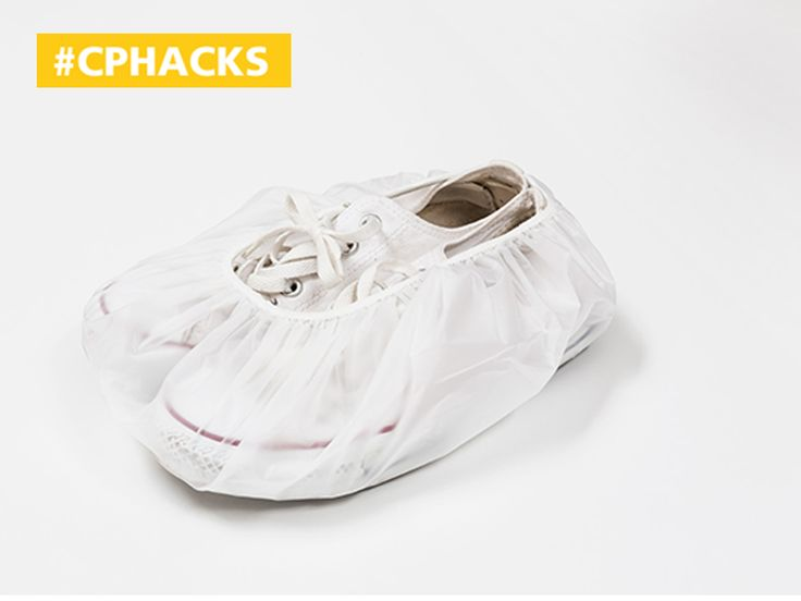 Copenhagen Airport Travel Hack: Put a shower cap around your shoes instead of sealing them away in a plastic bag. You can even stuff your shoes with socks to get the most out of the space while helping the shoes keep their shape.