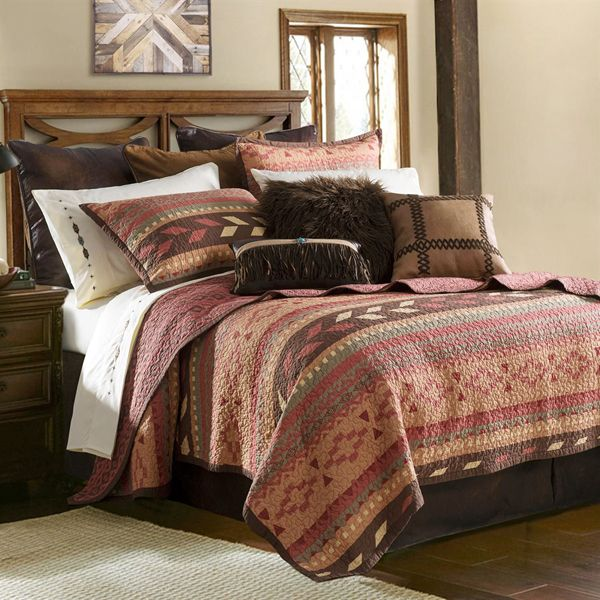 Delectably-Yours.com Broken Arrow Southwestern Quilt Coverlet Bed Set by HiEnd Accents