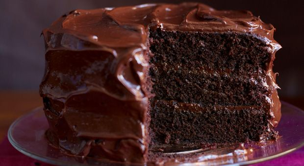 To contemporize this classic cake, we ramped up the richness: More butter makes the cake moister, and a combo of cocoa powder and semisweet chocolate provide a more intense chocolate flavor.