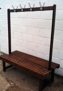 changing room bench with hooks - Locker Room Benches