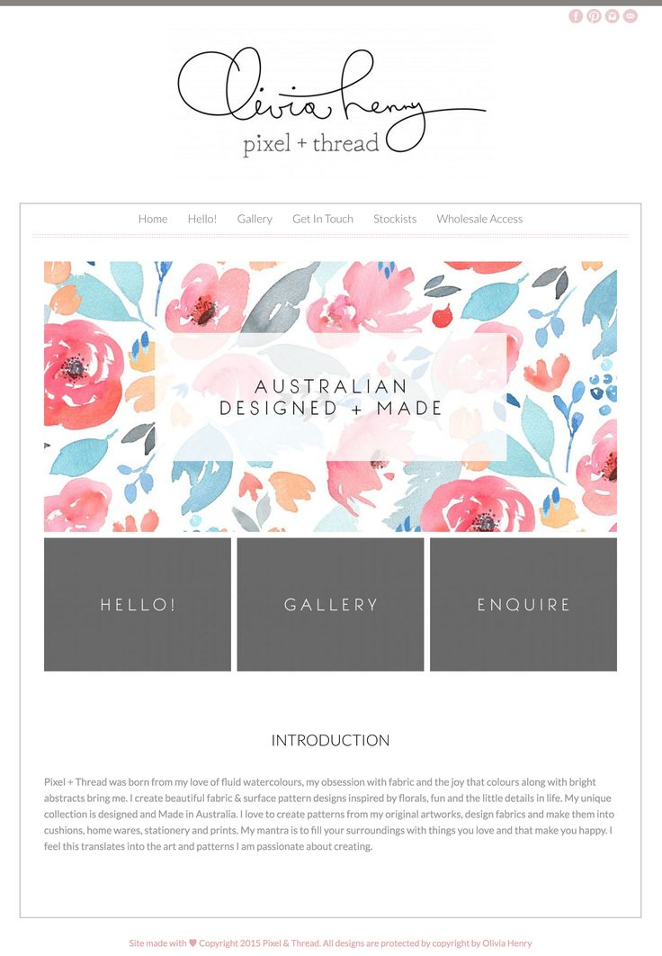 I love this super chic, professional website designed using the Honeycrisp Wordpress theme by Angie Makes. Too adorable!