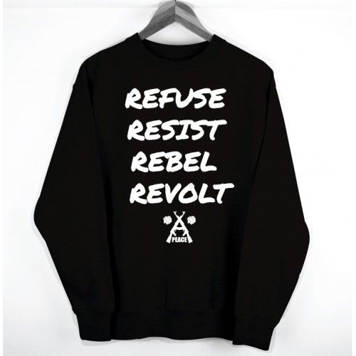 Peace Denim Co. Rebels Rebel Sweater. Buy @ http://thehubmarketplace.com/index.php?route=product/product&product_id=396