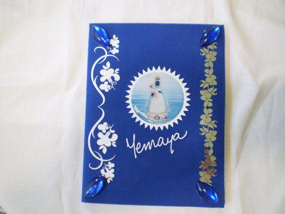 Yemaya Jemanja Orishas Decorated Notebook for Ita by OshaDesigns