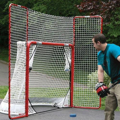 EZ Goal Steel Folding Hockey Goal with Backstop & Targets - Hockey Goals at Hayneedle