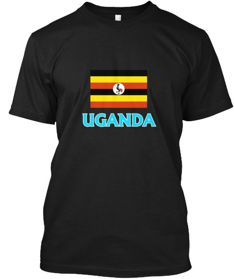 Uganda Flag Classic Blue Design Black T-Shirt Front - This is the perfect gift for someone who loves Ugandan. Thank you for visiting my page (Related terms: I Heart Uganda,Uganda,Ugandan,Uganda Travel,I Love My Country,Uganda Flag, Uganda Map,Uganda Languag #Ugandan, #Ugandanshirts...)