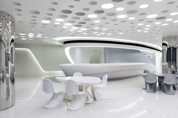 Interior Soho Gallery Shanghai 2013 Zaha Hadid Architects Futuristic Interior Zaha Hadid Interior Home Interior Design