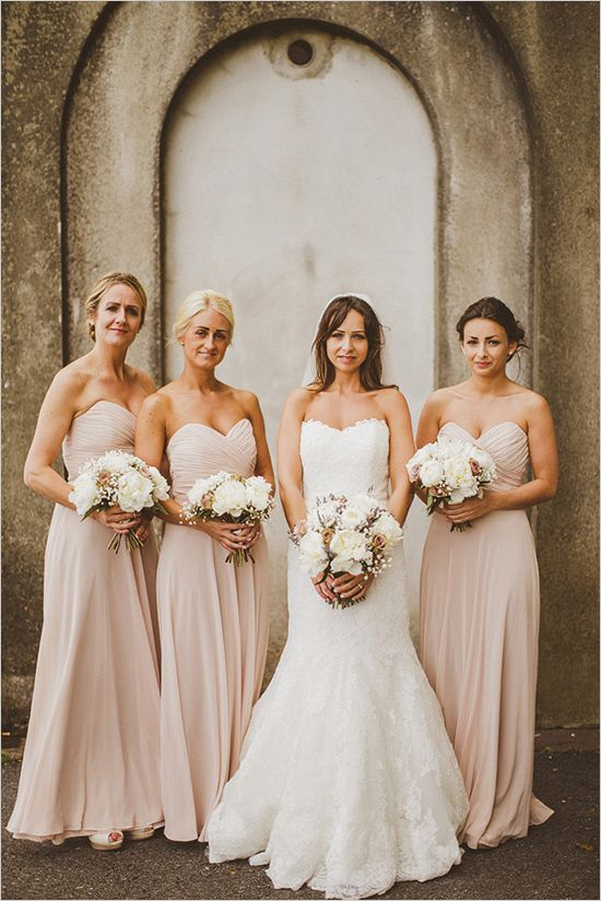 Neutral color bridesmaid dresses