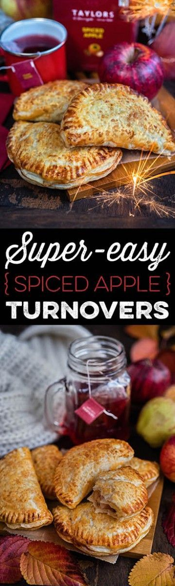 Super easy spiced apple turnovers.