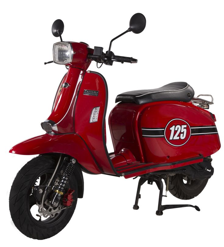 Scomadi TL125 Scooter : Magma Red