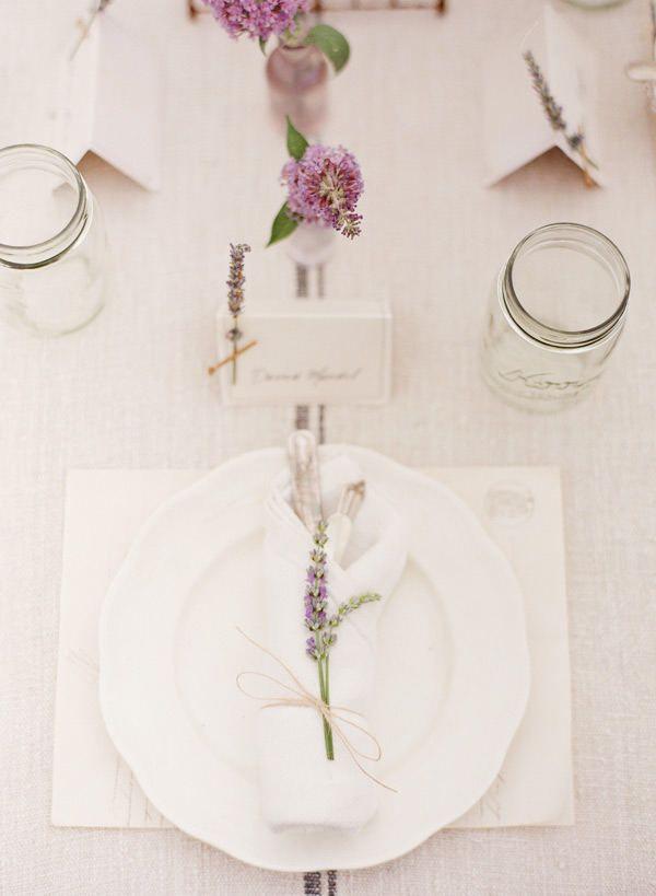 lavender on napkin Photography by ktmerry.com, Decor Design by dreamywhitesonline.com/