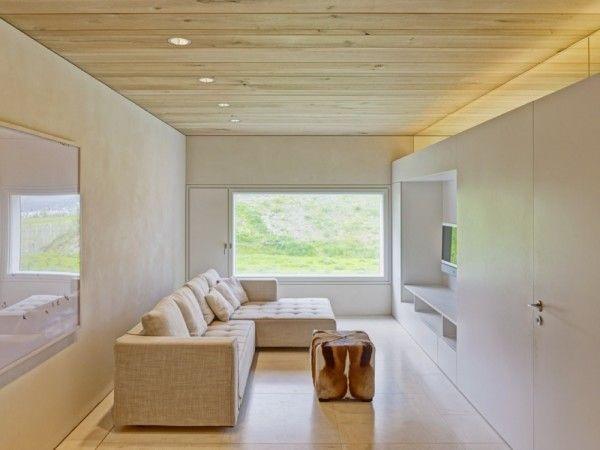 Sofa Interior from Modern Minimalist House with Amazing Surrounding in Winterthur Switzerland 600x450 Modern Minimalist House with Amazing Surrounding in Winterthur, Switzerland