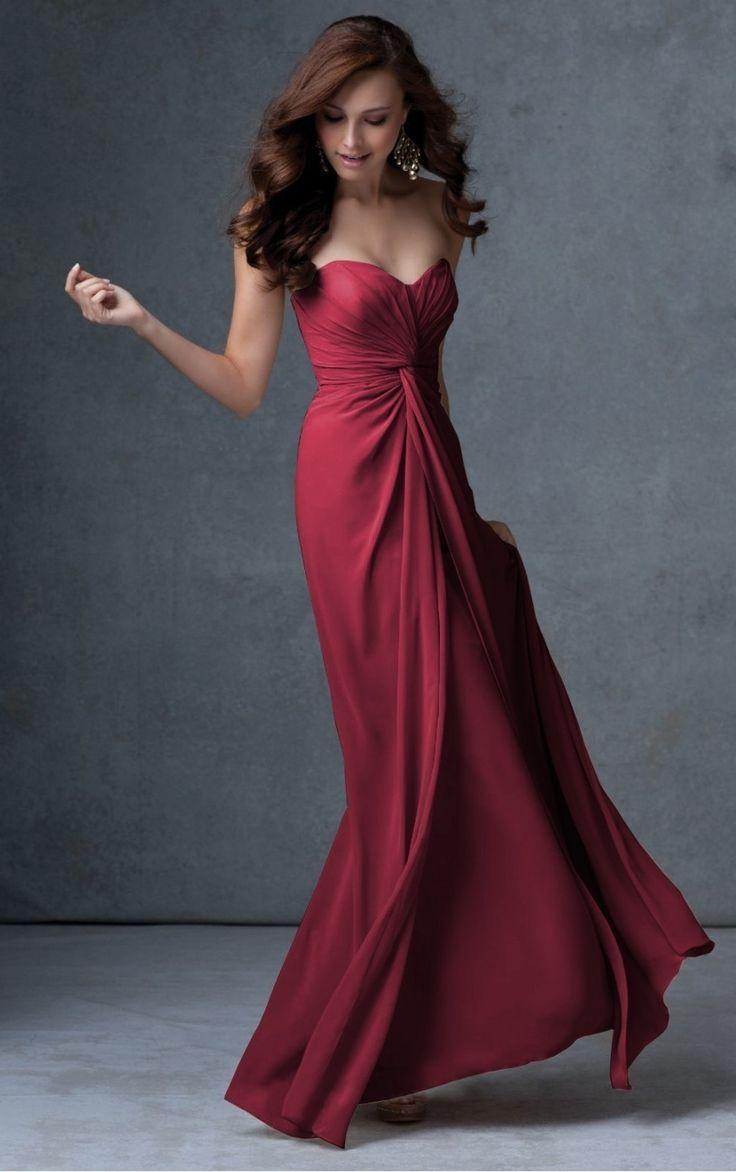 Pleated Chiffon A-line Floor-length Evening Dress