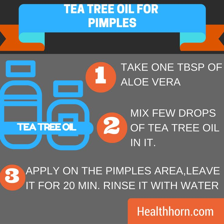 Tea tree oil to get rid of pimples fast