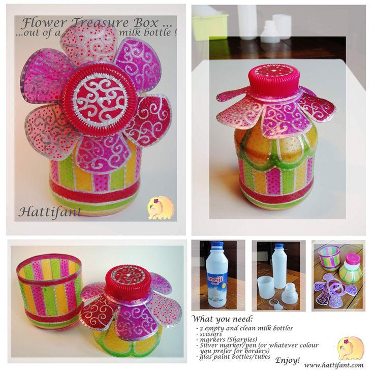 Hattifant - Treasure Flower Box out of Milk Bottles | Up ...