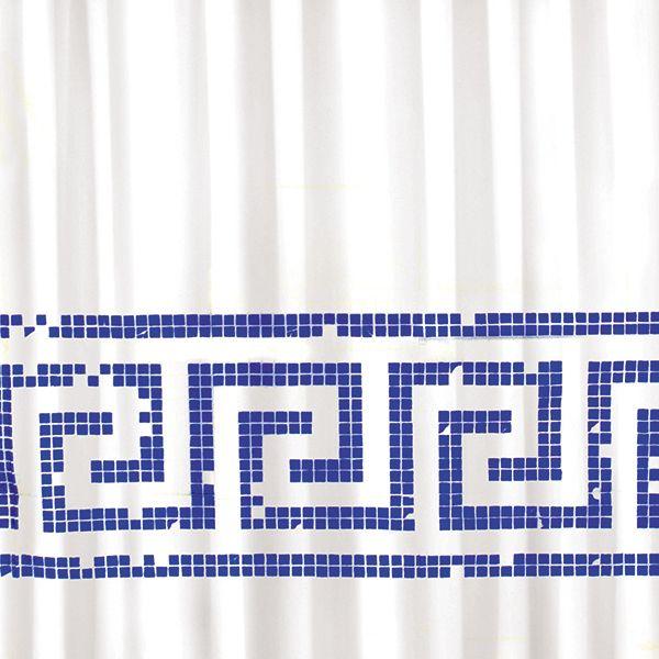 Shower curtain / cortina de ducha / Rideaux de duche. Modelo Mosaico de Juma. Made in Barcelona. www.cha-cha.es