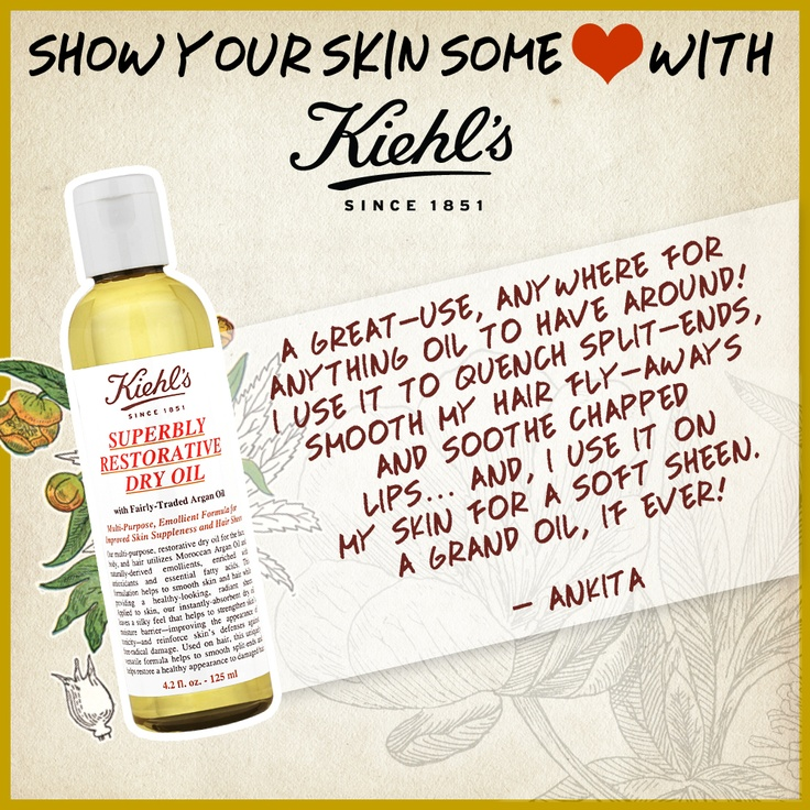 Kiehl's Superbly Restorative Dry Oil. Join us on Twitter - https://twitter.com/KiehlsIndia