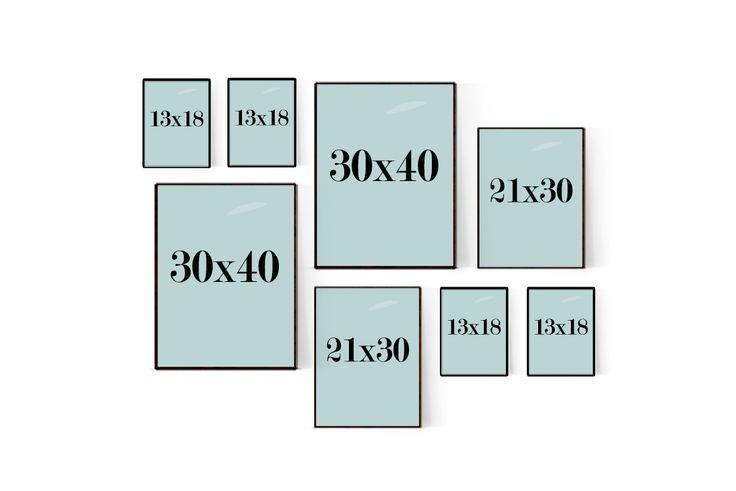 Mellanstor tavelvägg som passar perfekt till vardagsrummet eller större väggar