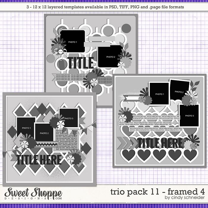 Cindy's Layered Templates - Trio Pack 11: Framed 4 by Cindy Schneider