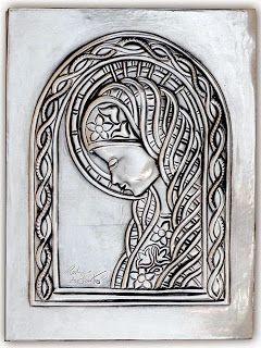 ArteyMetal: Placa Virgen María