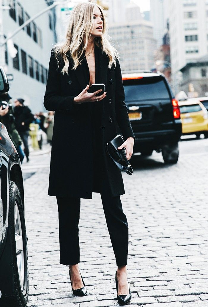Show some skin in an all-black ensemble.The Who What Wear 30-Day Spring Style Challenge via @WhoWhatWear