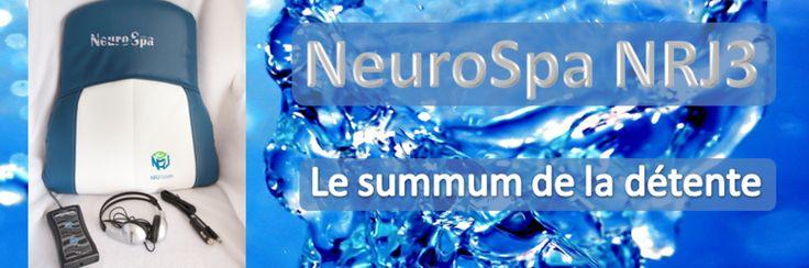 Coussin de massage thérapeutique par vibrations sonores synchronisées avec de la musique conventionnelle #NeuroSpa NRJ3