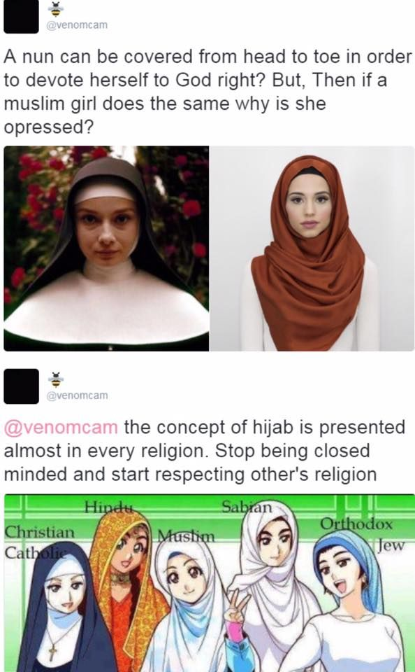 Article: That meme comparing hijabis to nuns needs to die in a pit of fire (click to read)...