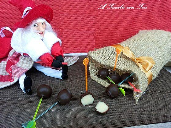 Lolli Pop di Marzapane e Cioccolato