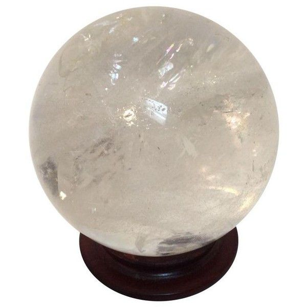 Large Quartz Crystal Ball ($995) ❤ liked on Polyvore featuring home, home decor, decor and crystal home decor