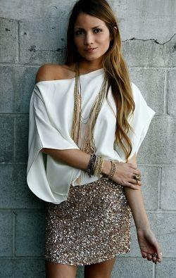 gold glitter mini