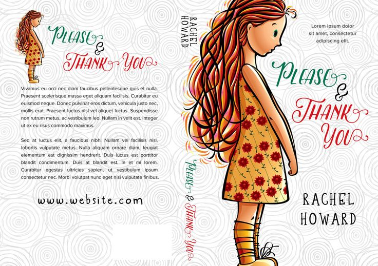 Illustrated Premade Book Covers : Please thank you middle grade premade book cover for