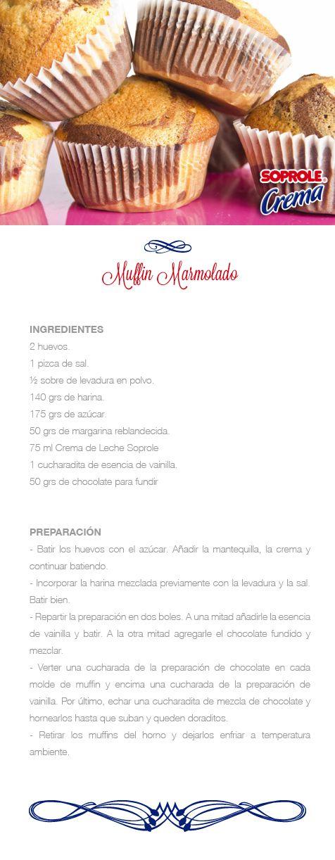 Muffins marmolados