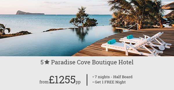Enjoy a luxury Mauritius holiday at affordable rates! Our exclusive holiday offer for Paradise Cove Boutique Hotel is up for grabs. Call Now!