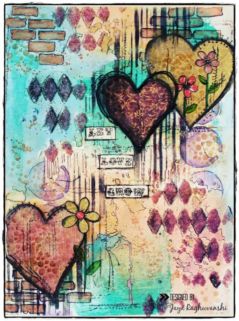 """""""Let Love Grow""""- Art Journal page - My Craft World"""