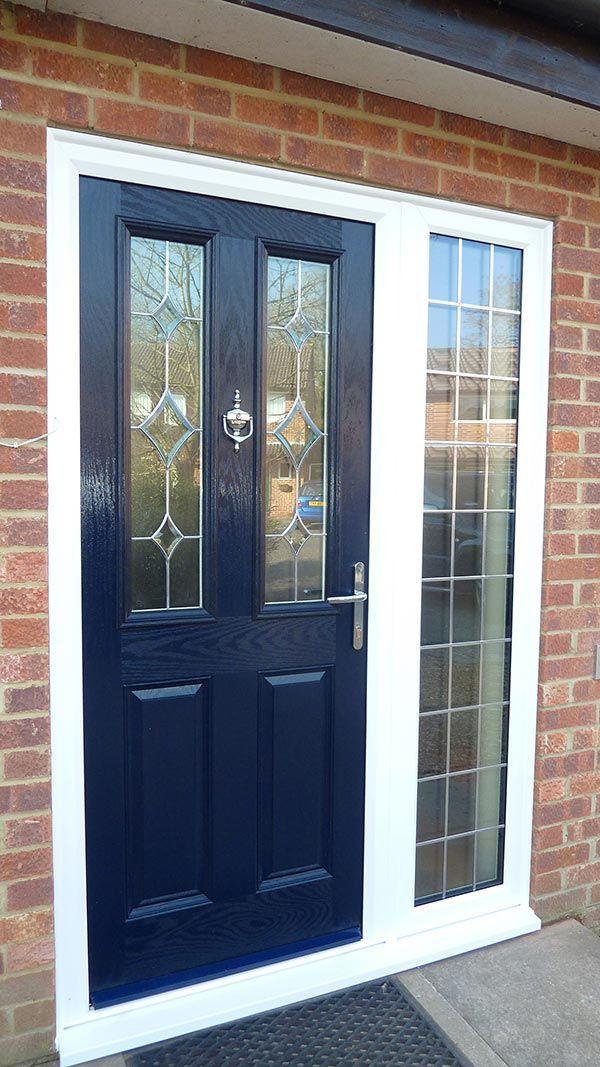 9 best black composite doors images on pinterest for Front door with three windows